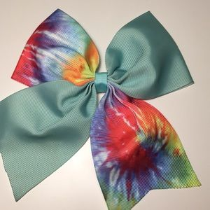 Hot Topic blue and tyedye cheer bow